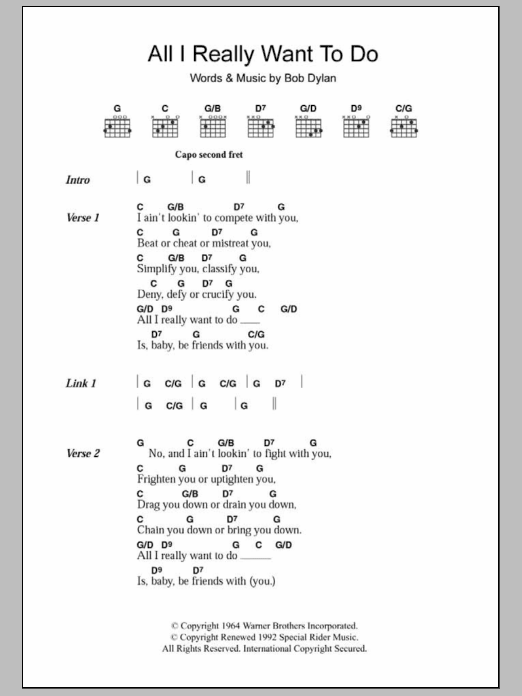 Sheet Music Digital Files To Print Licensed The Byrds Digital