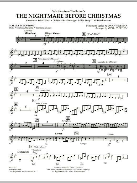 selections from the nightmare before christmas mallet percussion - Nightmare Before Christmas Whats This Lyrics
