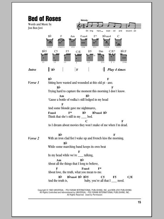 Sheet Music Digital Files To Print Licensed Bon Jovi Digital Sheet