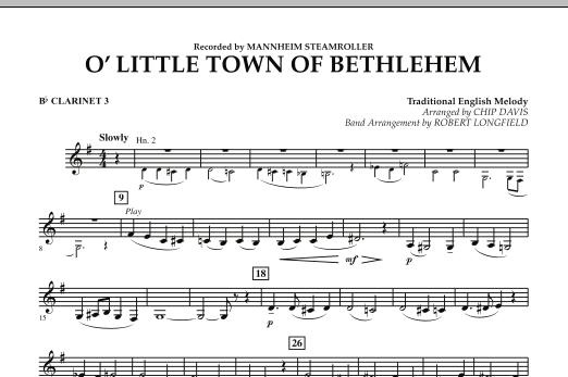 O Little Town Of Bethlehem Bb Clarinet 3 At Stantons Sheet Music