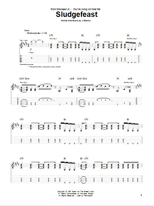 Tablature guitare Sludgefeast de Dinosaur Jr. - Tablature Guitare