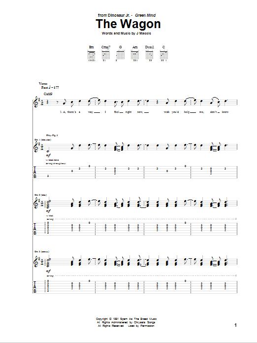 Tablature guitare The Wagon de Dinosaur Jr. - Tablature Guitare