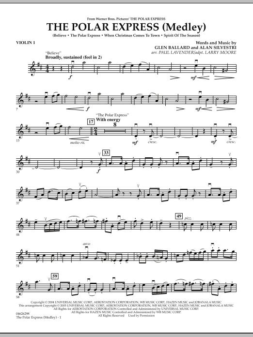 the polar express medley violin 1 - Polar Express When Christmas Comes To Town Lyrics