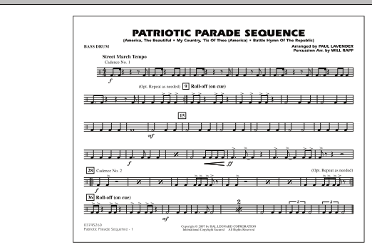 Patriotic Parade Sequence