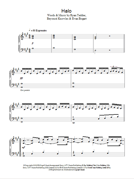 Halo : Sheet Music Direct