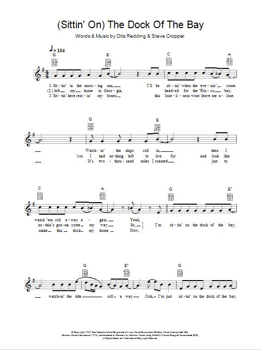 Sheet Music Digital Files To Print Licensed Otis Redding Digital