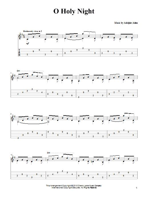 Tablature guitare O Holy Night de Adolphe Adam - Tablature Guitare