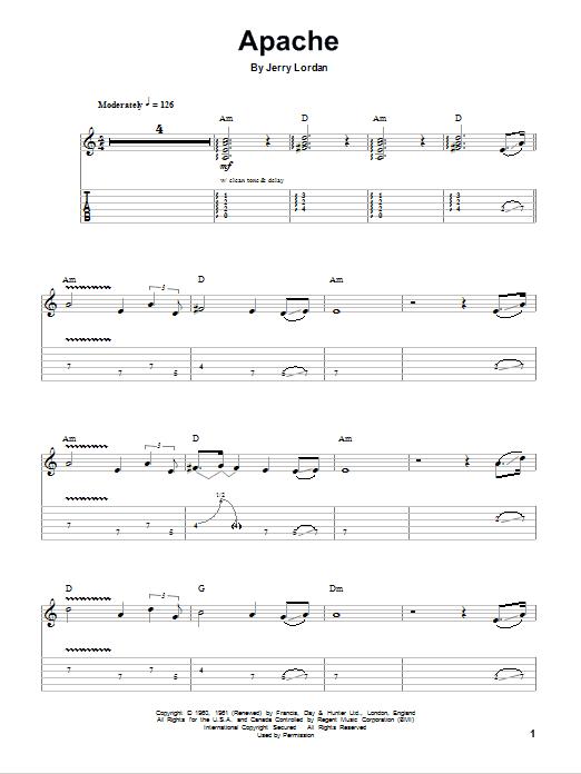 Guitar Instructor Apache by Jorgen Ingmann - Guitar Tab Play-Along