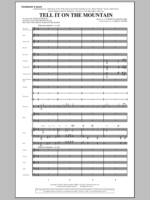Tell It On The Mountain (from A World Of Christmas) (COMPLETE) sheet music for orchestra/band (Orchestra) by Joseph M. Martin