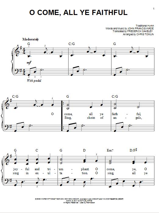 Sheet Music Digital Files To Print - Licensed Frederick Oakeley ...