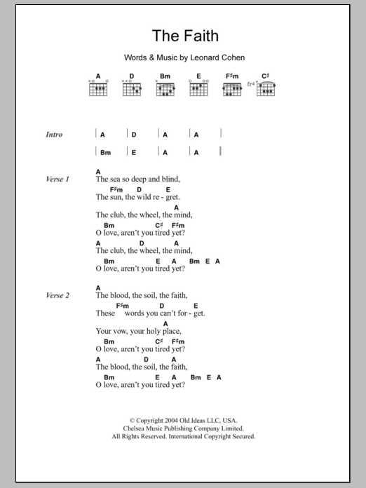 Faith Guitar Chords
