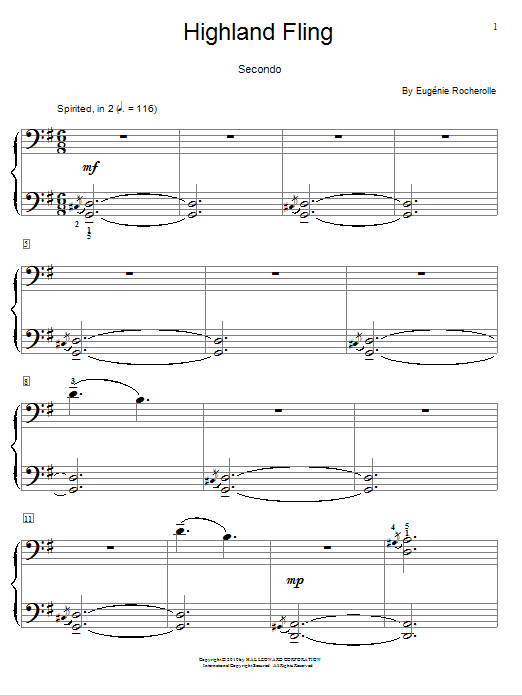 Tour for Two - HLSPL Composer Showcase NFMC 2014-2016 Selection 1 Piano, 4 Hands by Eugénie Rocherolle