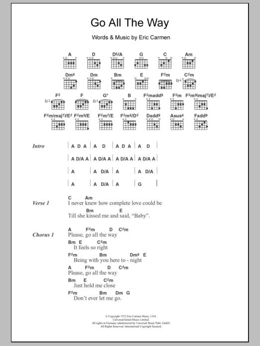Sheet Music Digital Files To Print - Licensed Eric Carmen Digital ...