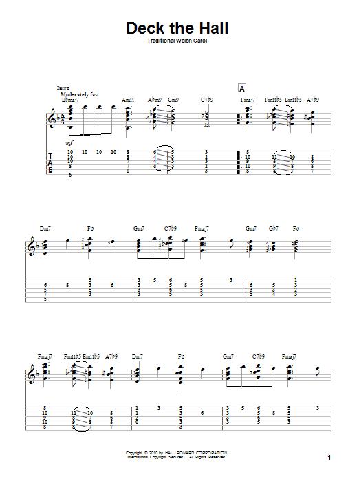 Deck The Hall Guitar Tab by Traditional Carol (Guitar Tab u2013 83217)