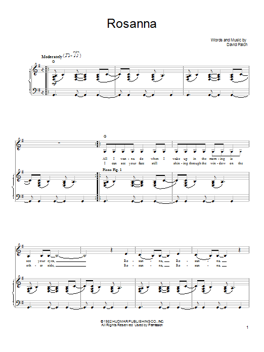 Sheet Music Digital Files To Print - Licensed Toto Digital Sheet Music