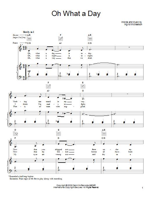 Sheet Music Digital Files To Print - Licensed Ingrid Michaelson ...
