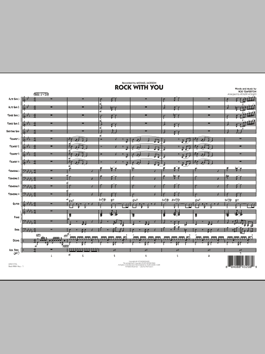 Rock With You (COMPLETE) sheet music for jazz band by Rod Temperton