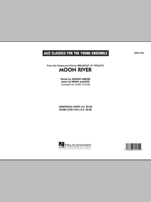 Moon River (COMPLETE) sheet music for jazz band by Mark Taylor