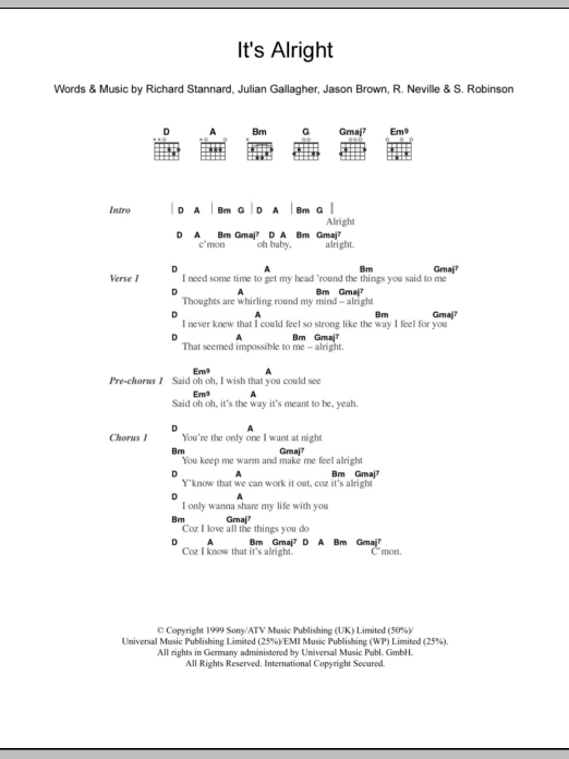 It's Alright sheet music for guitar solo (chords, lyrics, melody) by Sylvia Robinson