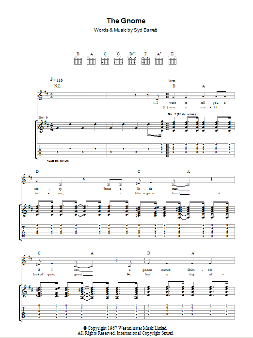 Pink Floyd A Pillow Of Winds Guitar Tab