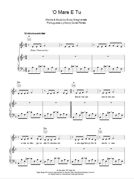 Andrea Bocelli - 'O Mare E Tu
