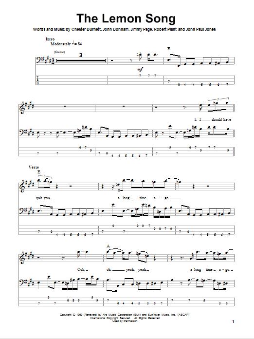 Sheet Music Digital Files To Print - Licensed John Bonham Digital ...