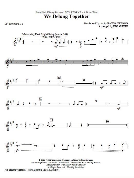 where you belong sheet music pdf