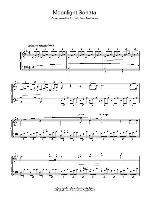Moonlight Sonata (Mondscheinsonate), First Movement, Op.27, No.2 : Sheet Music Direct