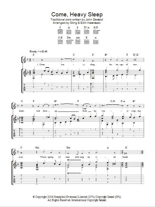 Sting - Come, Heavy Sleep