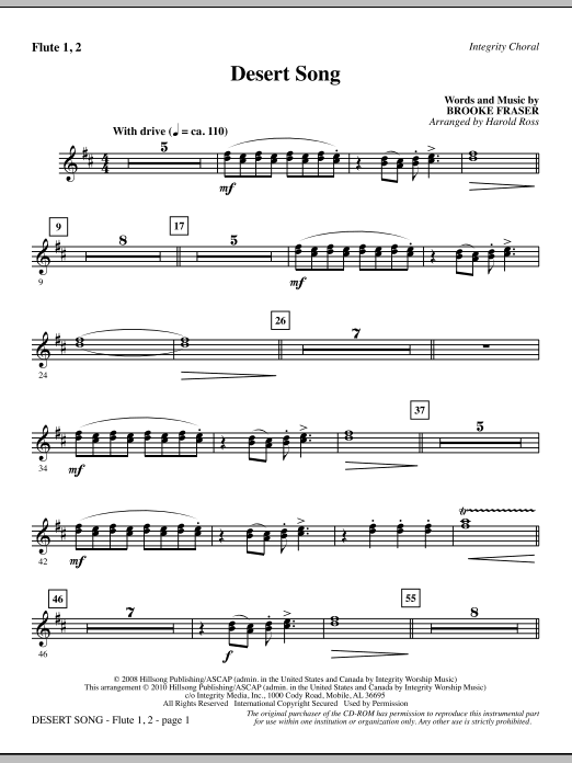 Sheet Music Digital Files To Print Licensed Brooke Fraser Digital