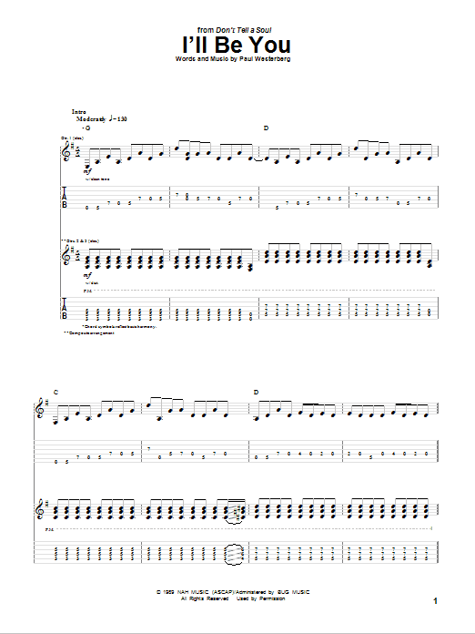 Tablature guitare I'll Be You de The Replacements - Tablature Guitare
