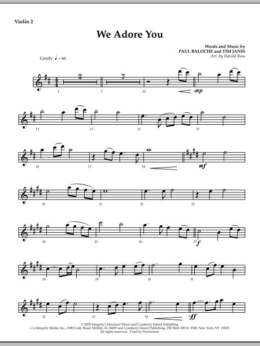 We Adore You - Violin 2 : Sheet Music Direct
