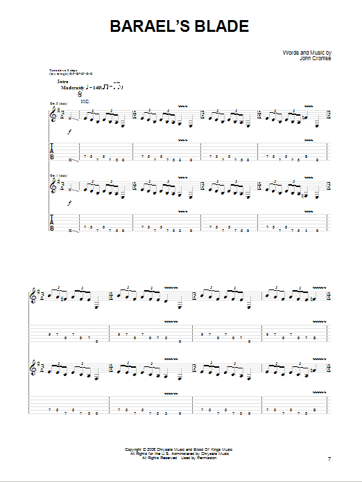Tablature guitare Barael's Blade de The Sword - Tablature Guitare