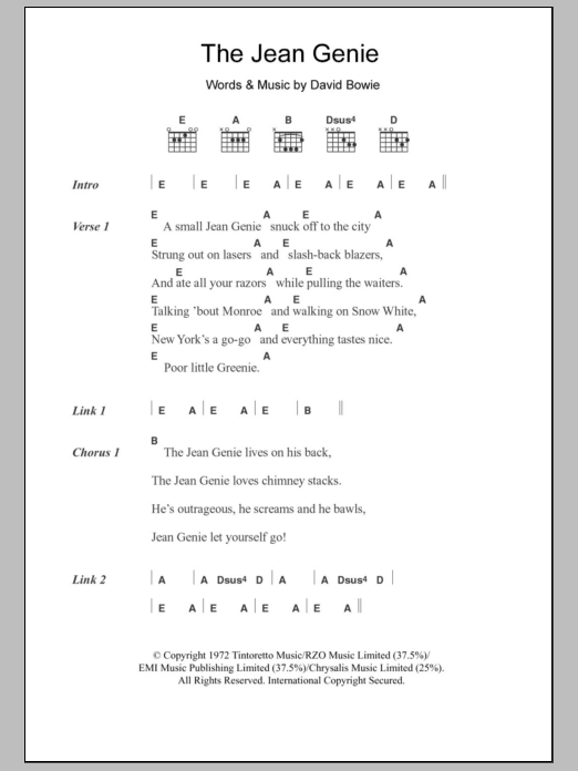 Perfect Starman Chords Image Collection - Beginner Guitar Piano ...