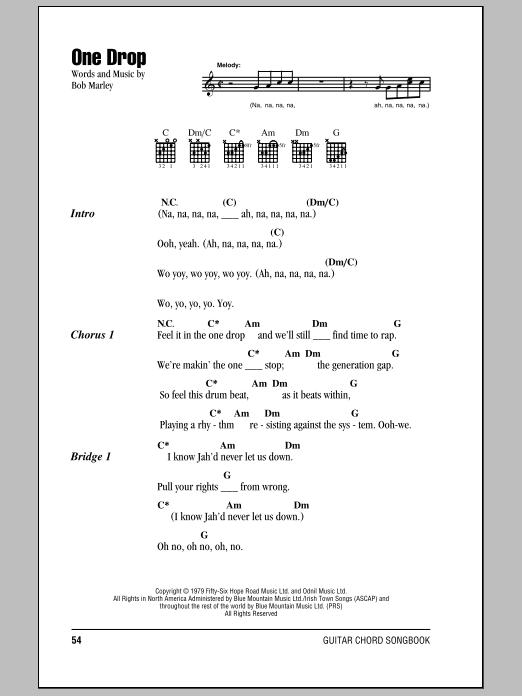 Sheet Music Digital Files To Print Licensed Bob Marley Digital