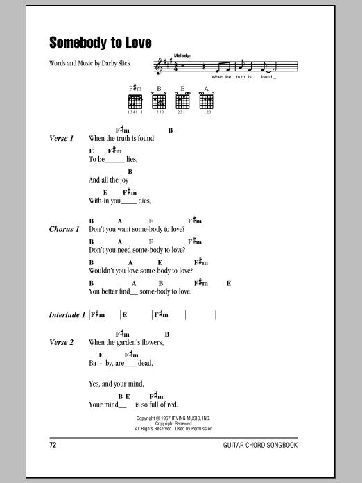 Sheet Music Digital Files To Print - Licensed Jefferson Airplane ...