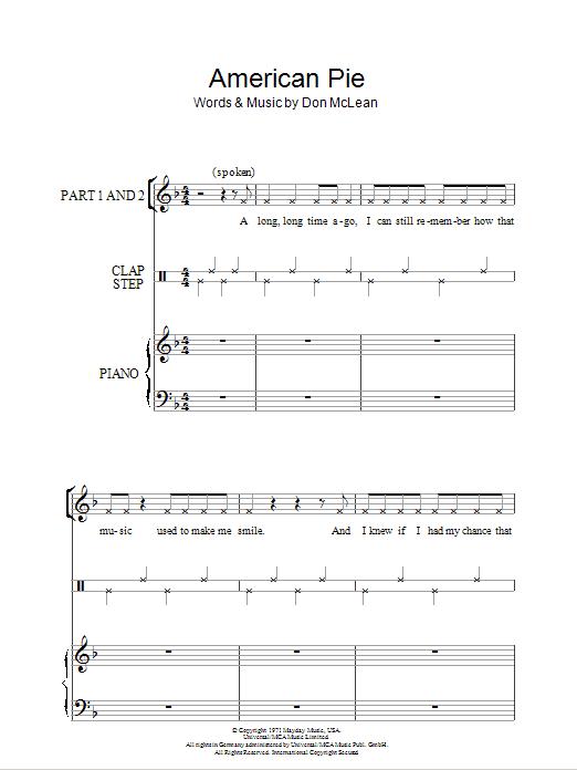 Sheet Music Digital Files To Print - Licensed Don McLean Digital ...