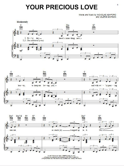 Sheet Music Digital Files To Print Licensed Nickolas Ashford