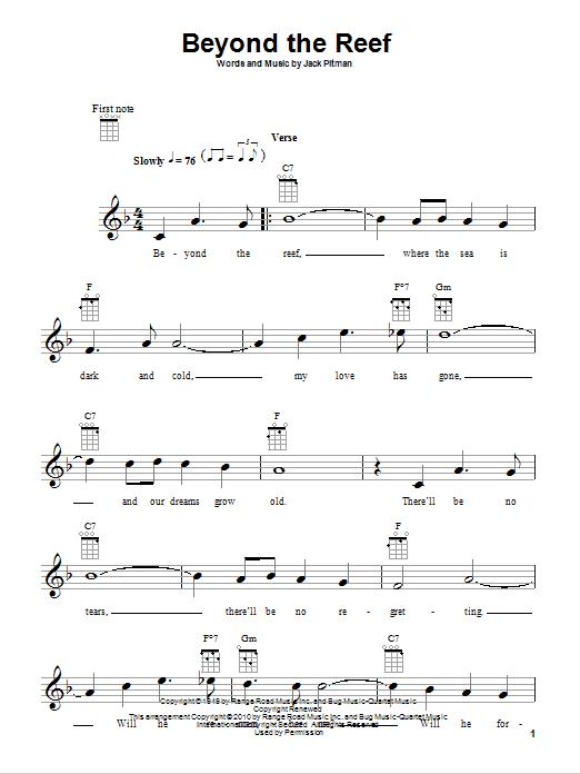 Tablature guitare Beyond The Reef de Jack Pitman - Ukulele