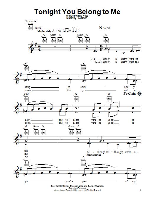 Tablature guitare Too Bad de Eric Clapton - Ukulele