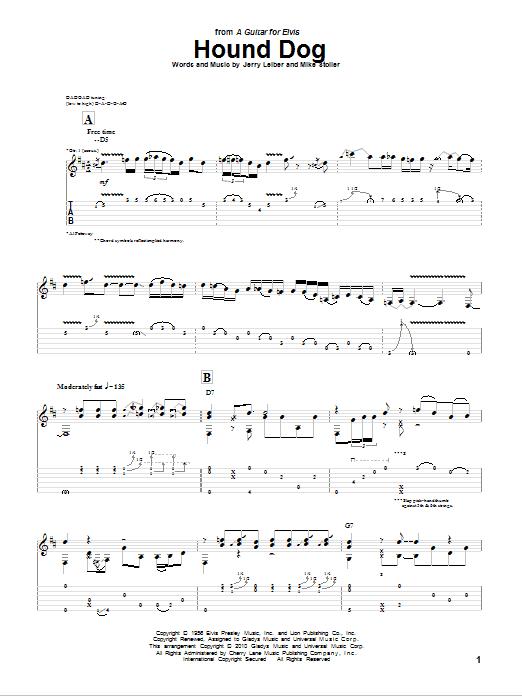 Tablature guitare Hound Dog de Al Petteway - Tablature Guitare