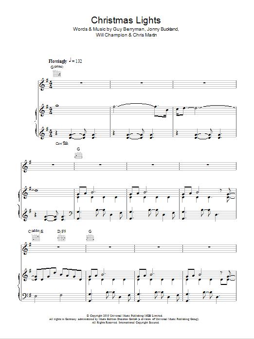 Sheet Music Digital Files To Print - Licensed Coldplay Digital Sheet ...