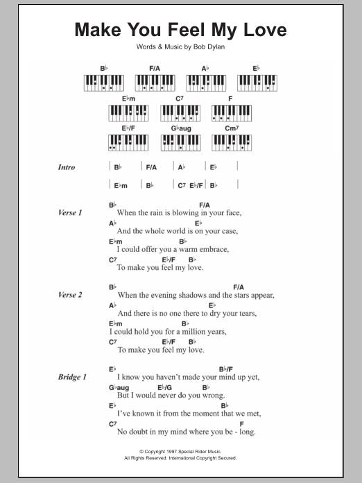 Make You Feel My Love : Sheet Music Direct