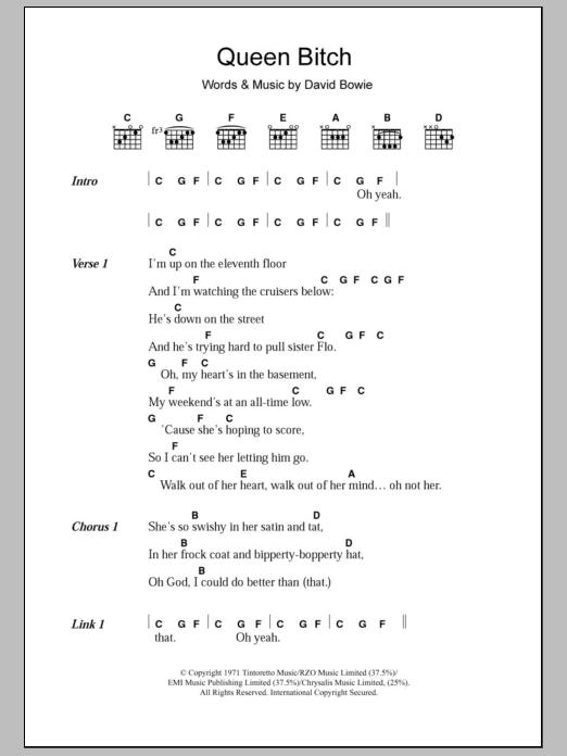 Sheet Music Digital Files To Print Licensed David Bowie Digital