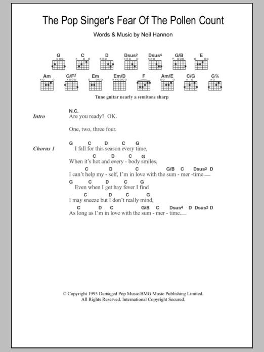 Sheet Music Digital Files To Print Licensed Neil Hannon Digital