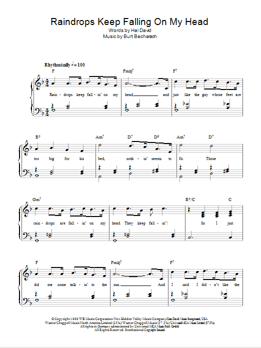 Sheet Music Digital Files To Print Licensed Burt Bacharach Digital