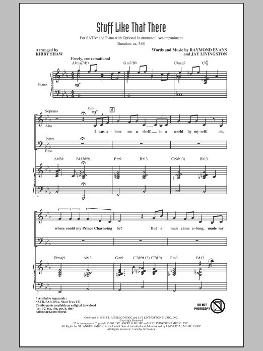 Partition chorale Stuff Like That There de Kirby Shaw - SATB