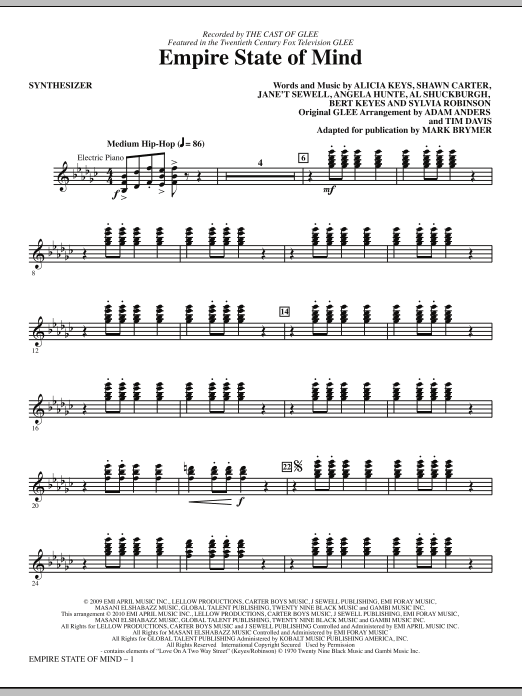 Empire State Of Mind (COMPLETE) sheet music for orchestra/band (Rhythm) by Mark Brymer