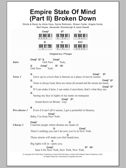 Sheet Music Digital Files To Print - Licensed Alicia Keys Digital ...