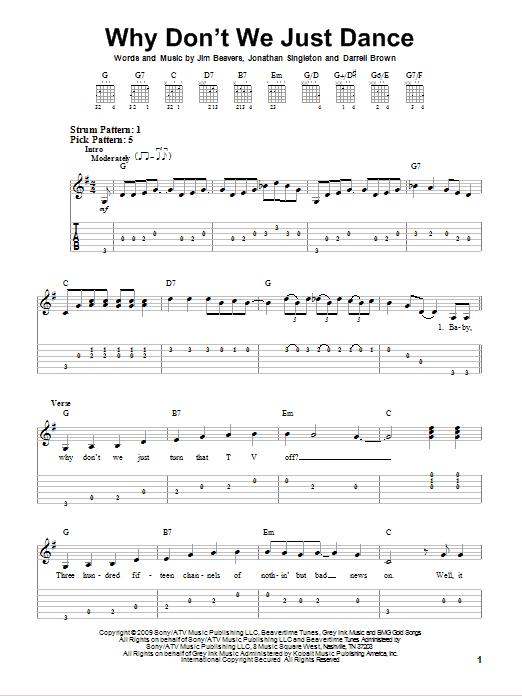 Tablature guitare Why Don't We Just Dance de Josh Turner - Tablature guitare facile
